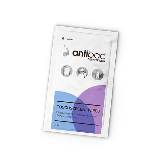 Antibac Touch Screen Wipes overflatedes 95 stk